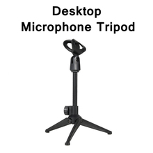 Foldable Tabletop Stand for Microphone Mini Desktop Metal/Plastic Tripod for Condenser Wireless Microphone Holder Mic Stands