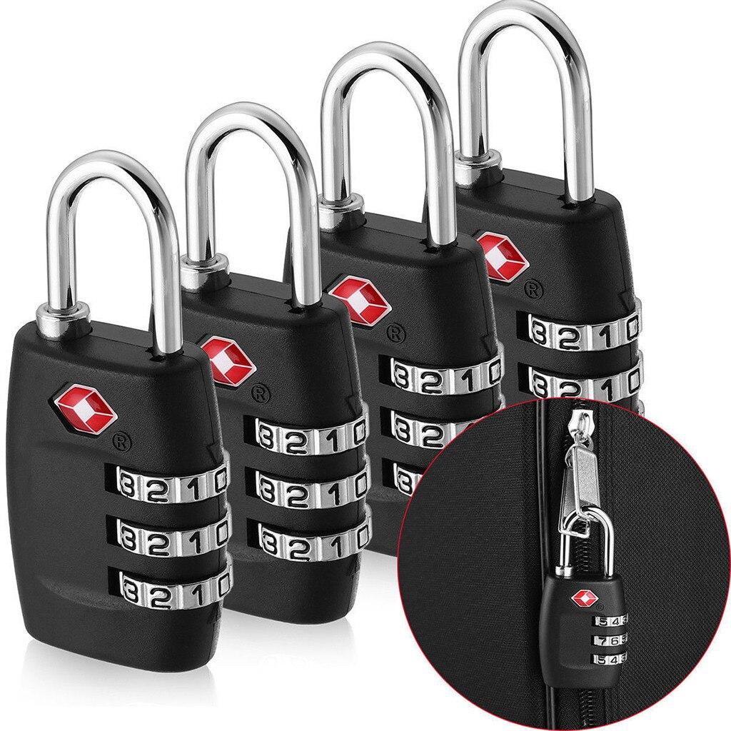 Multi Tool 4pcs Customs Password Lock Travel Goods Luggage Lock 3 Digit Suitcase Padlock Reset Camping Traveling Equipment #f