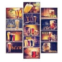 Cartel de Metal de cerveza, placa Vintage, carteles decorativos, placas de Metal para pared, Bar, Pub, decoración del hogar, 20x30cm