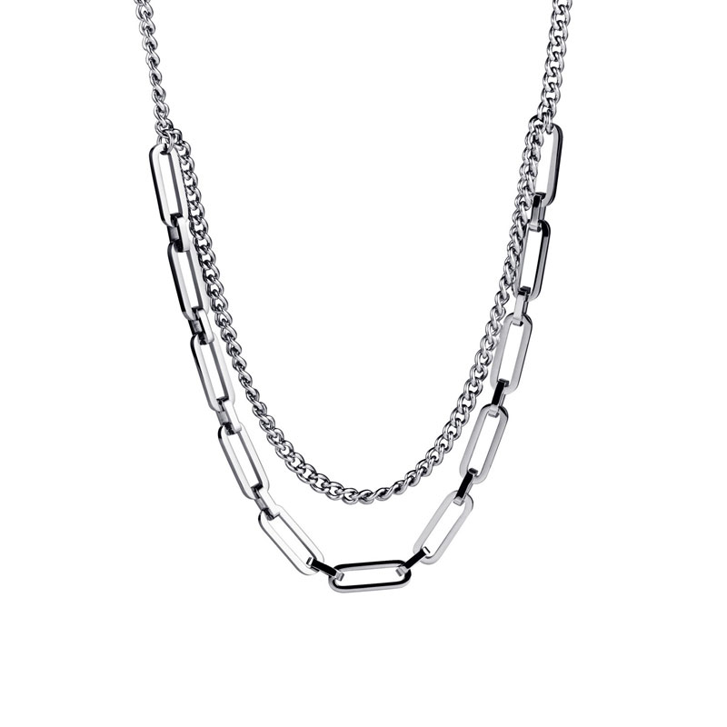 Новинка Женское и мужское ожерелье из нержавеющей стали в стиле