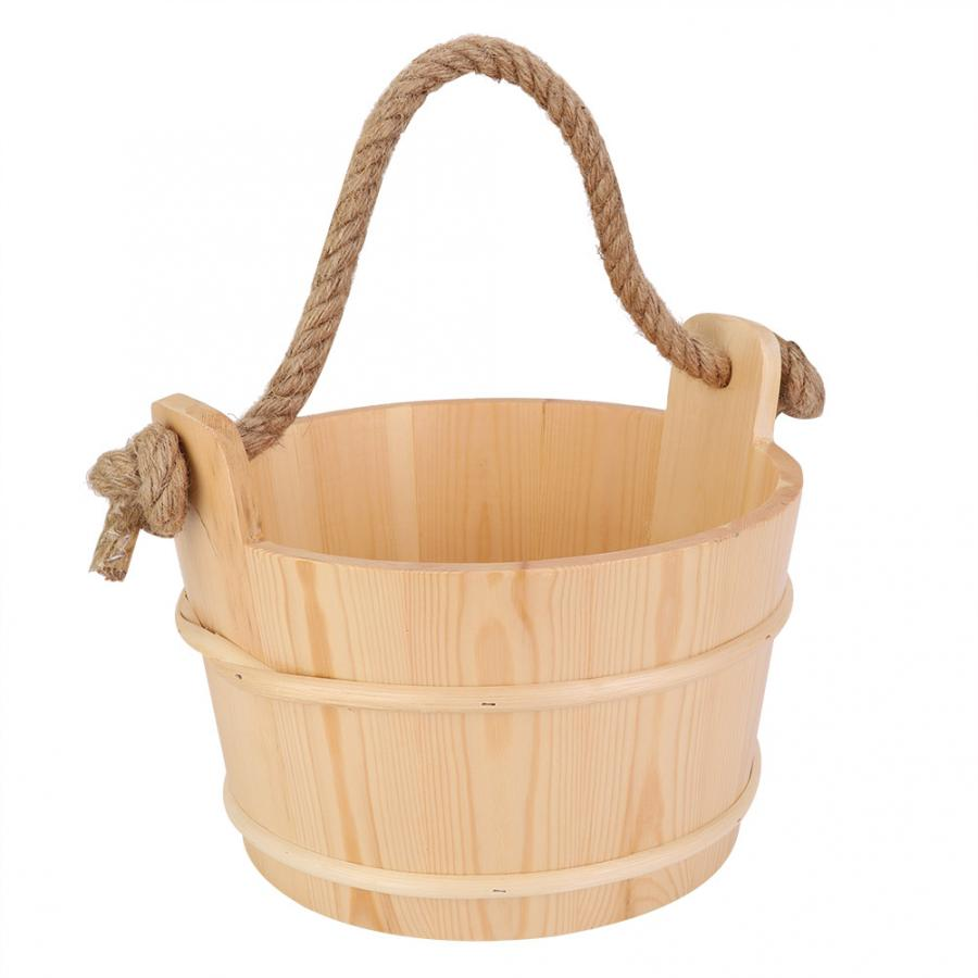 6L Sauna Bucket Barrel Wooden Sauna Accessories for Spa Shower Supplies Bathroom Bathroom Shower  Sauna Room Accessory