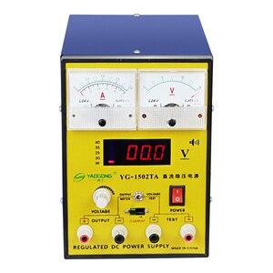 YAOGONG 1502TA Регулируемый блок питания постоянного тока, звуковой сигнал, звуковой сигнал, сигнал тревоги, мобильный телефон, прибор для ремонта...