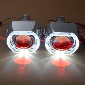 Image 4 - Lentilles pour phares ange diable Eyes Mini LED H1 projecteur 2.5 pouces Bixenon lentille Tuning H7 H4 voiture lumières accessoires rénovation