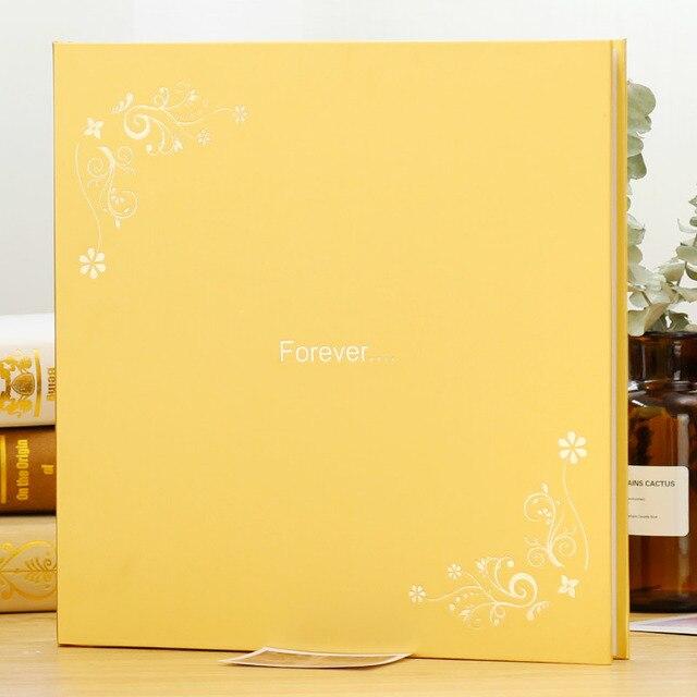 Plus rozmiar 18 Cal 12 Cal DIY Album fotograficzny wklej rodzina dziecko podróż ślub Foto książka pamiątkowa Home Decor urodziny pamiątka prezent