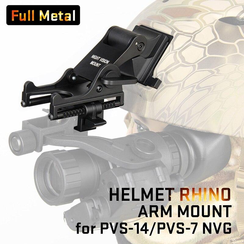 E T Dragon Full Metal NVG Night Vision Helmet Adapter Rhino Mount Bracket For PVS 7
