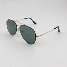 New Style Fashion Tempered Glass Sheet Aviator Sunglasses Re
