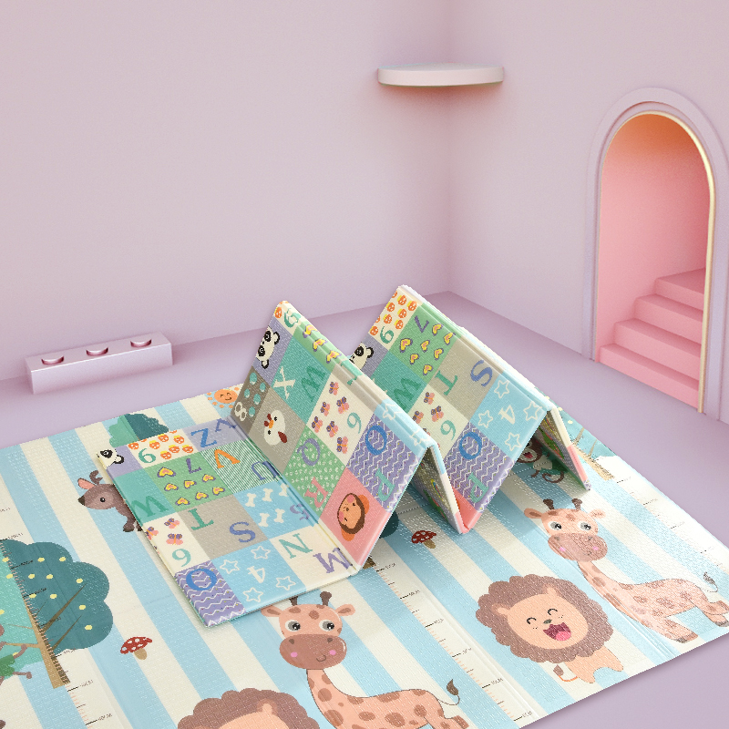 Baby Mat Portable Foldable Baby Climbing Pad 180X200x1CM Baby Play Mat Foam Pad XPE Tasteless Parlor Game Blanket