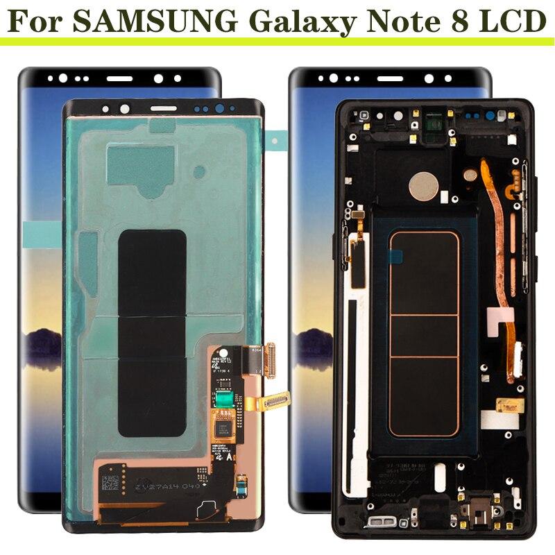ЖК-дисплей Super Amoled 6,3 дюйма для SAMSUNG Galaxy Note 8, ЖК-дисплей N950 N950F, сенсорный экран, запасные части, ЖК-дисплей