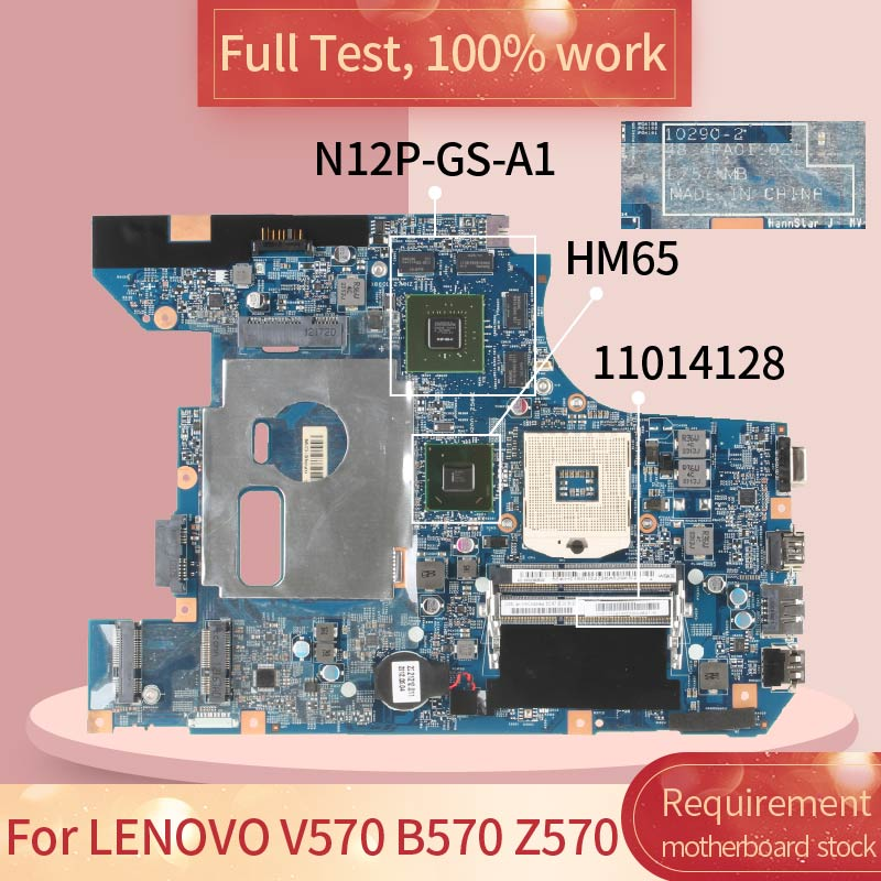 For <font><b>LENOVO</b></font> <font><b>V570</b></font> B570 Z570 10290-2 11014128 HM65 N12P-GS-A1 DDR3 <font><b>motherboard</b></font> Mainboard full test 100% work image