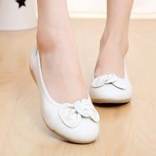 цена на 12 colors Plus size(34-43)2014 new Spring comfortable women genuine leather flat shoe female casual nurse work shoes women flats