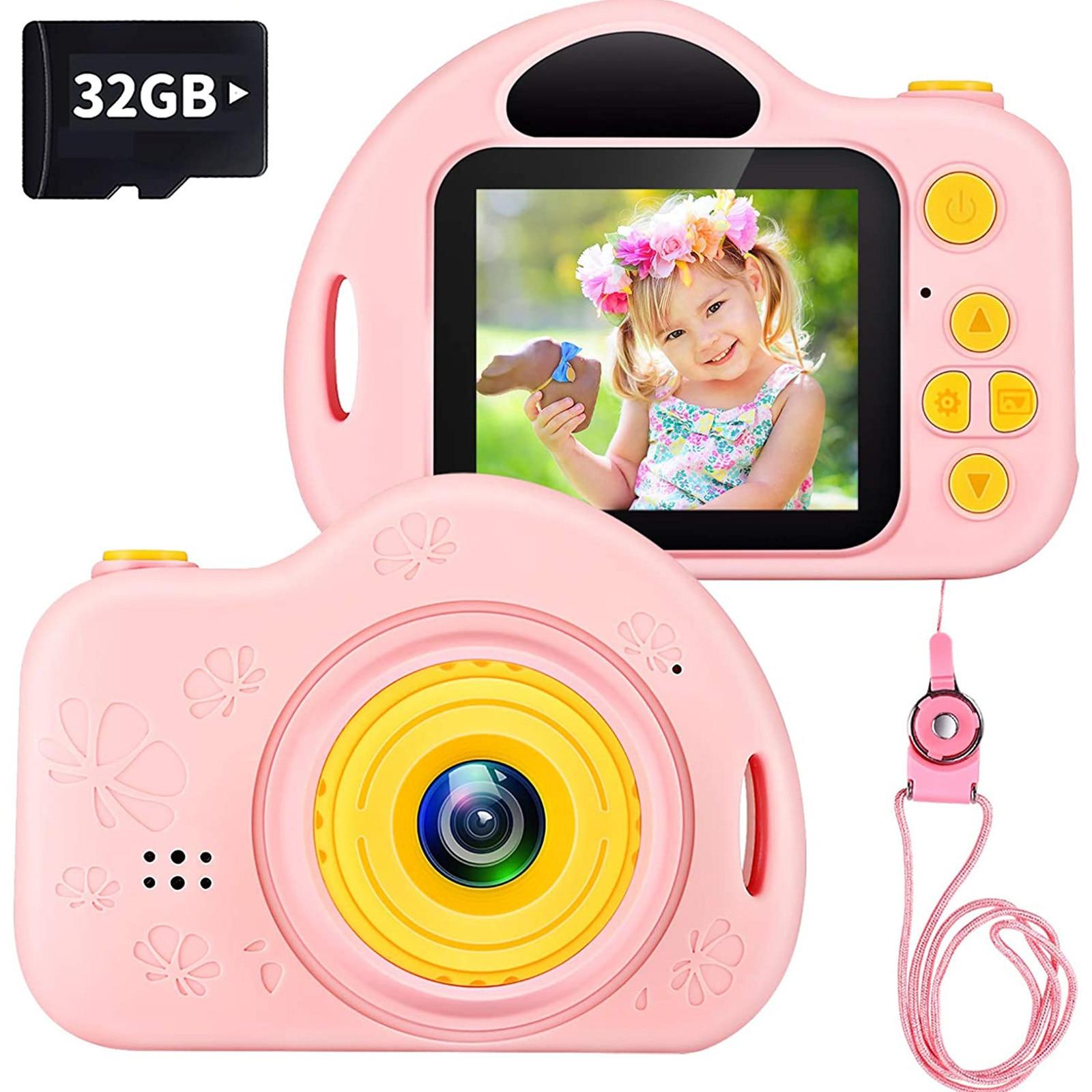 #5 New Electronic Camera Kids Digital Camera Toys For Girls 1080 Ips 2 Inch Hd Girls Best Birthday Toys Children Birthday Gift