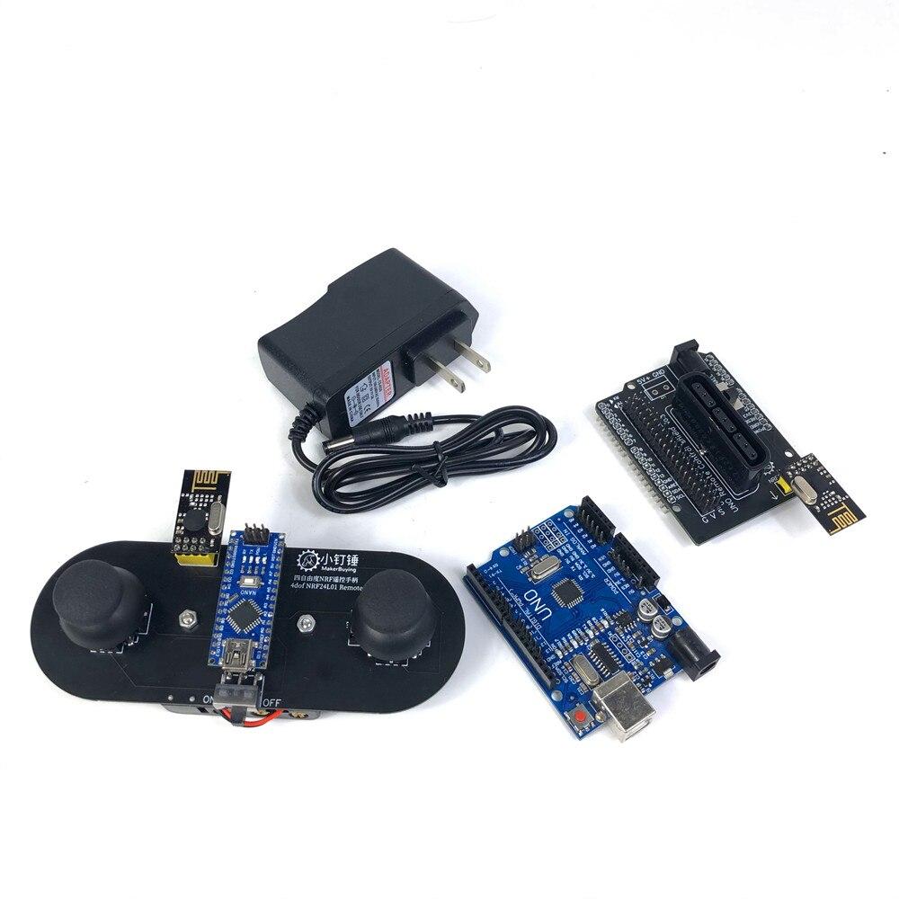 2.4G Arduino Quadruple Servo NRF24L01 Remote Control PS2 Expansion Kit