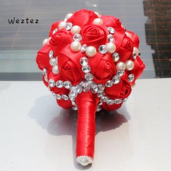 Weztez bukiet ślubny bukiet ślubny sztuczne kwiaty ślubne bukiety ślubne dla nowożeńców akcesoria ślubne akcesoria SPH118 tanie i dobre opinie NYLON 26cm 16cm 0 5kg W248 bridal bouquet wedding bouquet
