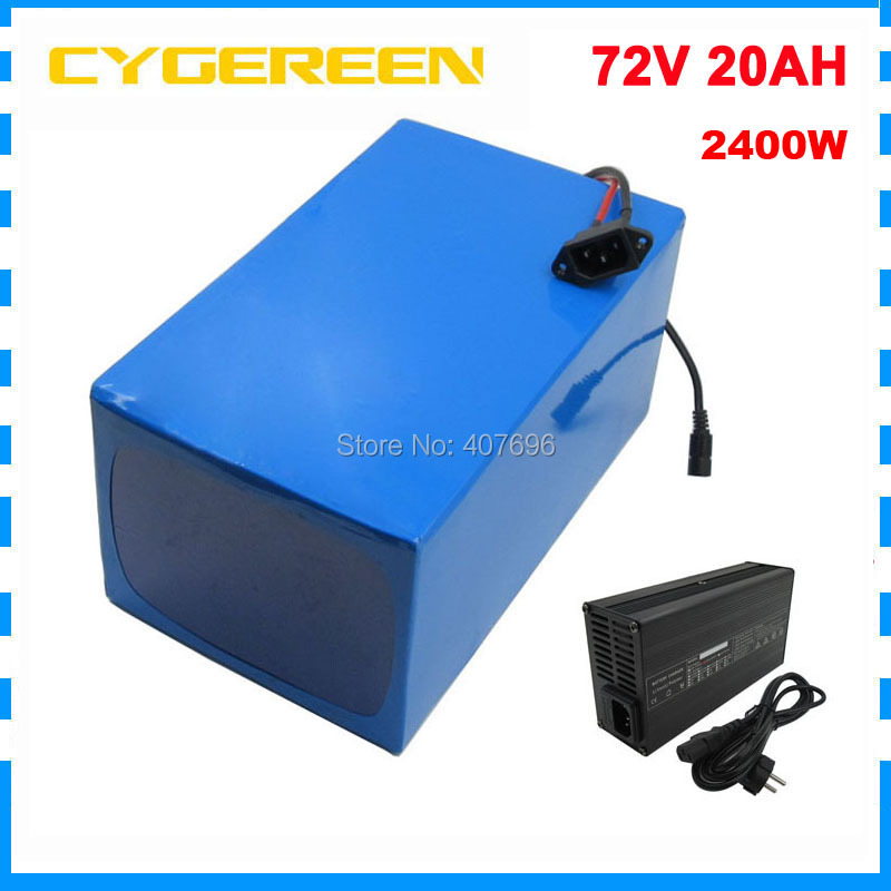 2400W <font><b>72V</b></font> 20AH 25AH 30AH 35AH <font><b>40AH</b></font> Electric bike <font><b>battery</b></font> 3000W <font><b>72V</b></font> <font><b>Lithium</b></font> ion <font><b>battery</b></font> pack 5000MAH 26650 Cell 40A / 50A BMS image