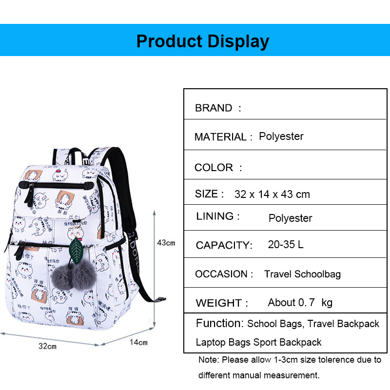 Fabric Waterproof Frinting School Backpack Children School Bags For Girls Student Girl Cute Schoolbag Travel Laptop Backpack in School Bags from Luggage Bags