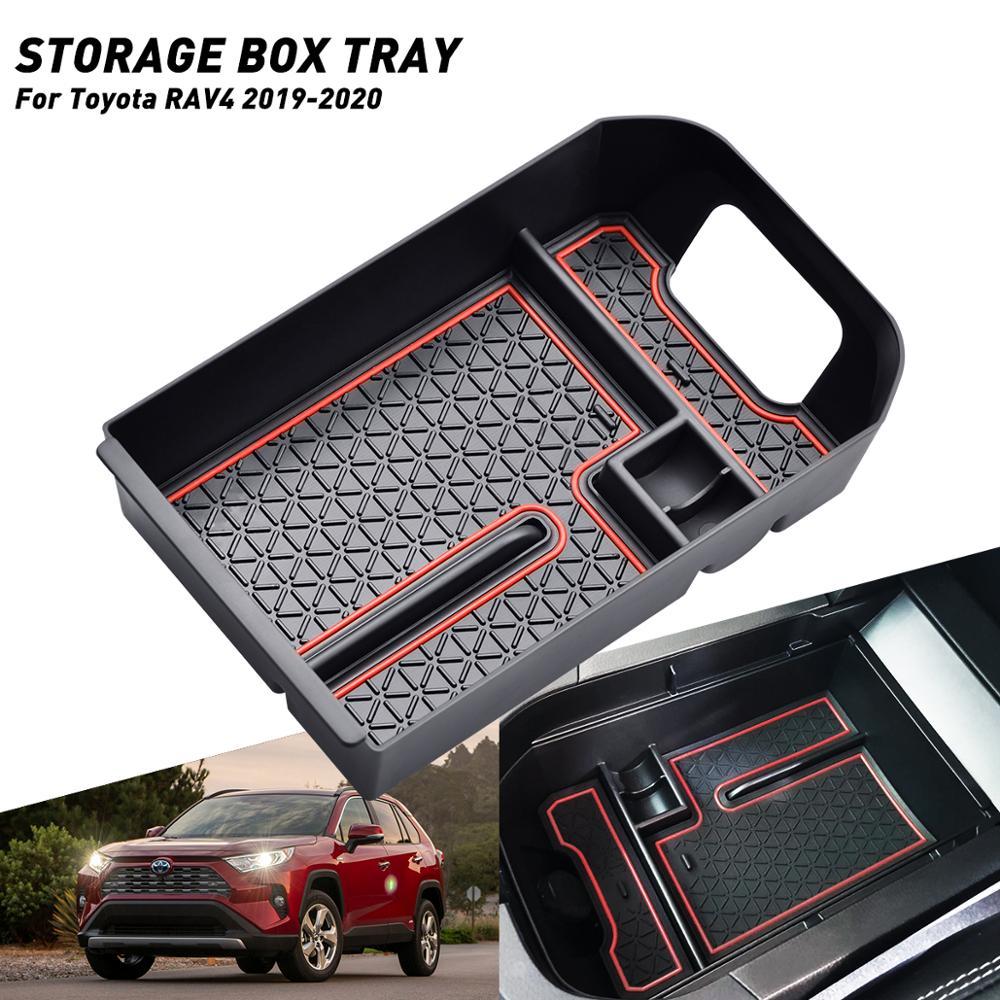 Автомобильный бардачок  подлокотник  коробка для вторичного хранения для Toyota RAV4 RAV 4 2019 2020  автомобильные аксессуары  стильная Автомобильная...