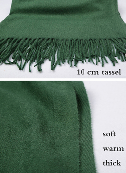 2020 Winter Scarf Solid Thicker Women Wool Cashmere Scarves Neck Head Warm Hijabs Pashmina Lady