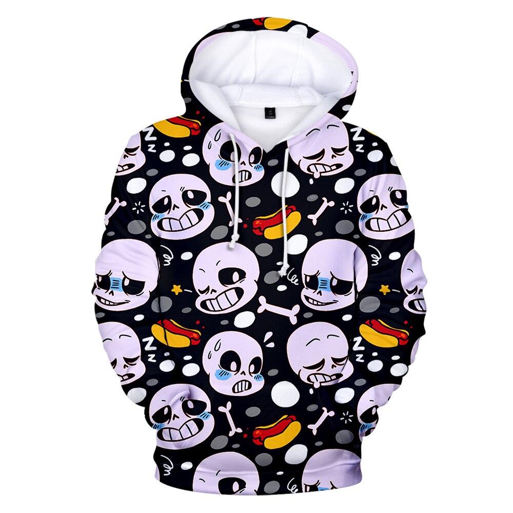 Cute Undertale Game Hoodies Men/Women Casual Sweatshirts Long Sleeve Hoodies Design Sans Pattern 3D Print Tracksuitsa 2019