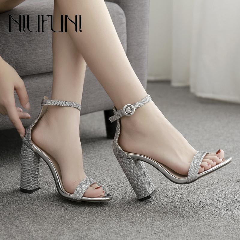 Fashion Peep Toe Plus Size 35 42 Women 39 s Sandals Summer New Arrival Metal Buckle High Heels Casual Ladies Sandals Women 39 s Shoes in High Heels from Shoes