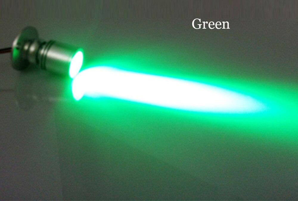 10 шт./лот затемнения светодиодные светильники для белый Потолочный Точечный светильник на потолок алюминиевый 110 v-220 v дома подсветка для шкафов отверстие Размеры 28 мм - Испускаемый цвет: Зеленый