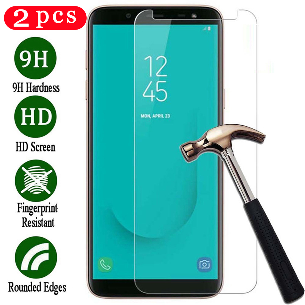 2Pcs tempered <font><b>glass</b></font> for <font><b>samsung</b></font> Galaxy A6 A7 <font><b>A8</b></font> <font><b>2018</b></font> protective film phone screen protector A5 2017 on the <font><b>glass</b></font> smartphone image