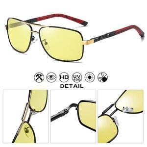 Image 4 - Marca de design moda óculos fotocromáticos polarizados óculos de sol homem dia noite visão segura condução feminino camaleão uv400