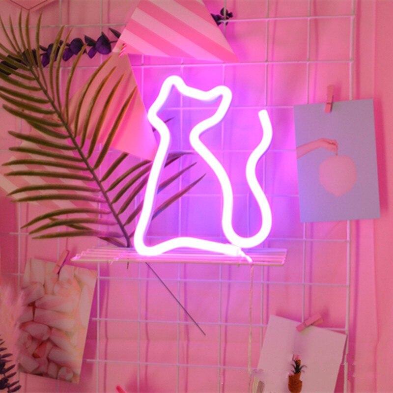 LED Neon Bulb Tube Light Dolphin/Cat/Dinosaur Lamp Lighting Novelty USB/AA Battery Power Home Decorate Luminary Bedside Light
