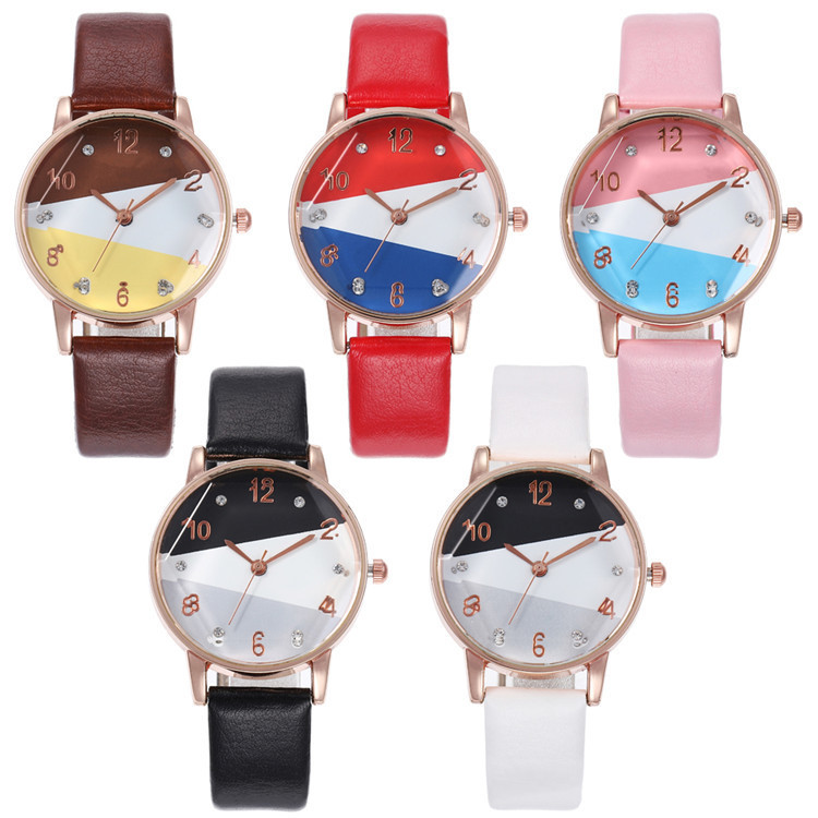 Fashion Belt Series Bracelet Watch Multicolor Fine Round Watch Joker Lady Wrist Watch