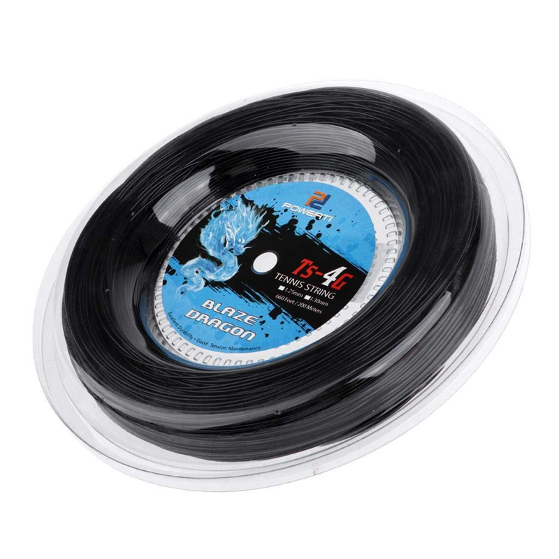 Powerti Tennis String 4G Polyester Training Racket String 200M Reel Gym Sport
