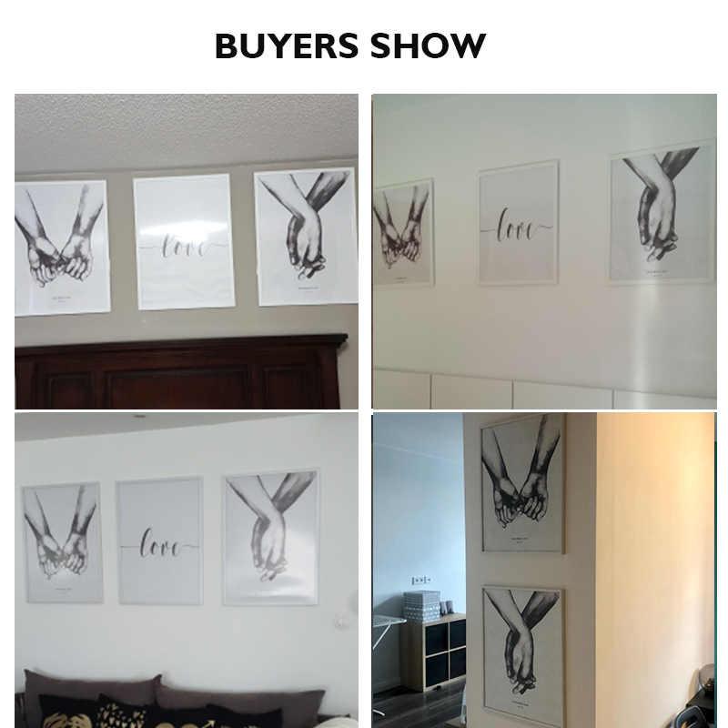 Poster in stile nordico pittura a olio astratta handmade in scarpe di tela in bianco e nero di arte Dolce Amore immagini living room decorazione 、