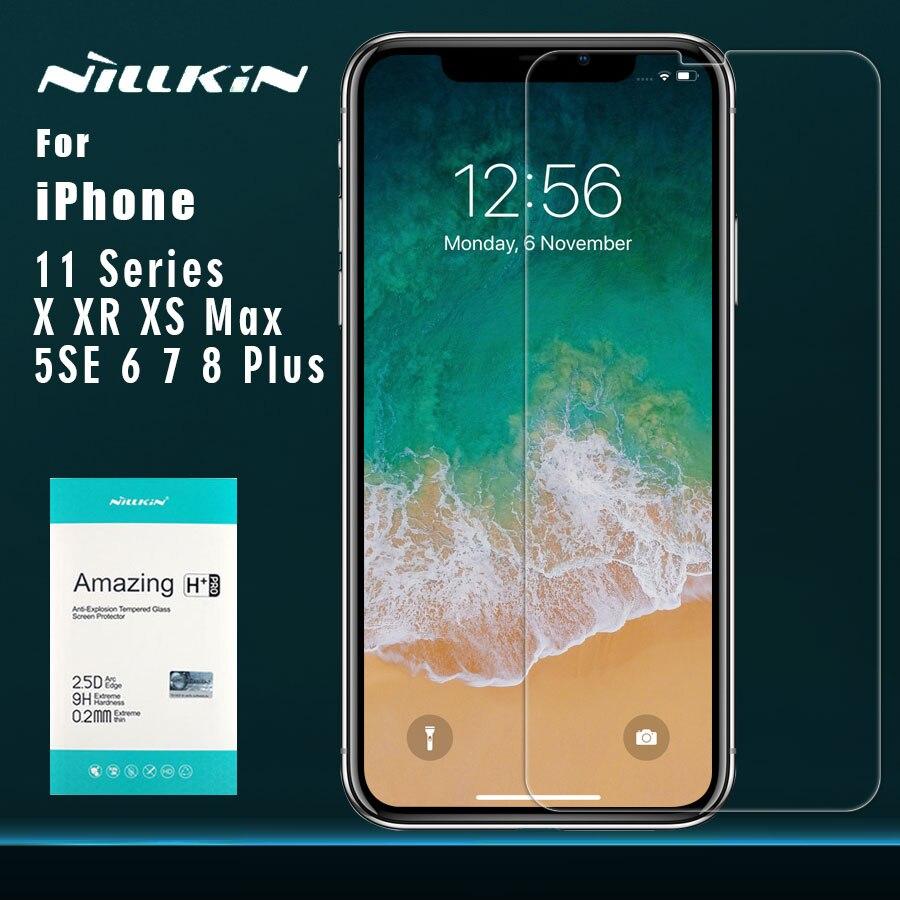 Para o iphone 11 11 Pro 11 Pro Max XR X XS XS Max 8 7 6 6s Plus Temperado nillkin vidro 11 9H + Filme Protetor De Tela Profissional para iPhone