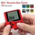 Многоцветная Ретро игровая консоль для детей тетрис портативная игровая консоль головоломка электронные игрушки мини игра ручной плеер дл...
