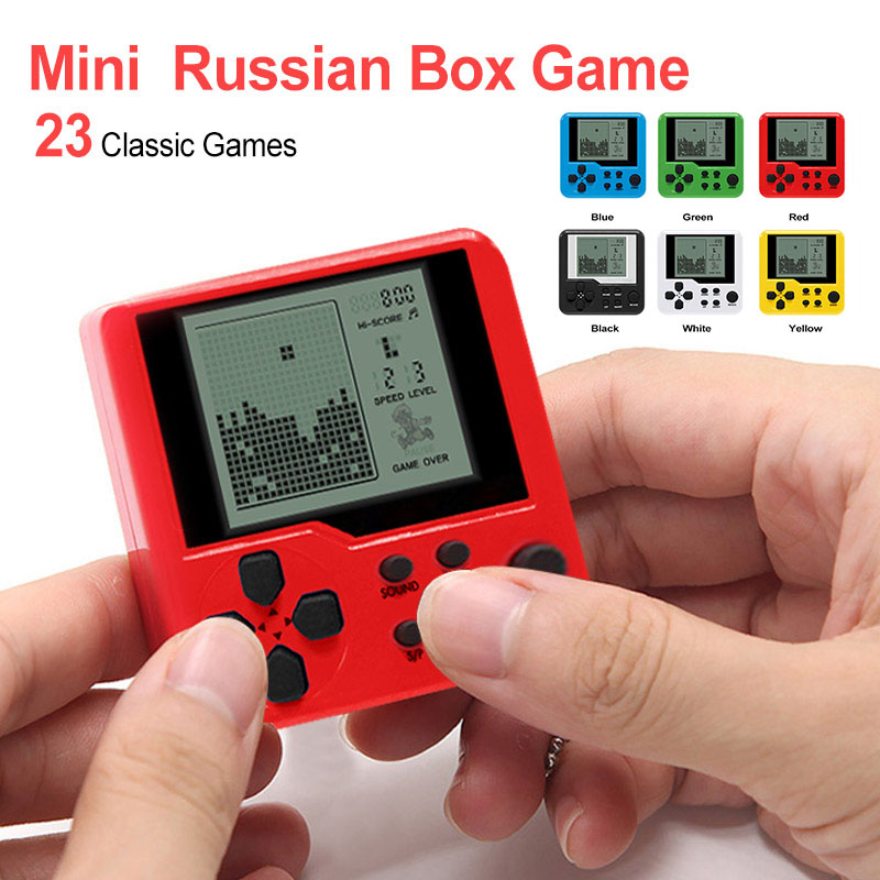 Multicolor Retro Game Console Children Tetris Handheld Game Console Puzzle Electronic Toys Mini Game Handheld Player for Kids