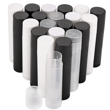 100Pcs 5ml Empty Lip Gloss Tubes Empty Cosmetic Containers Lipstick Jars Balm Tube Cap Container Maquiagem Travel Makeup Tools