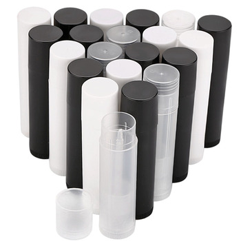 wholesale 100pcs 50ml aluminum empty toothpaste tubes w needle cap unsealed 100Pcs 5ml Empty Lip Gloss Tubes Empty Cosmetic Containers Lipstick Jars Balm Tube Cap Container Maquiagem Travel Makeup Tools