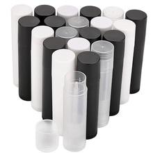100Pcs 5ml Leere Lip Gloss Rohre Leer Kosmetische Behälter Lippenstift Gläser Balm Rohr Kappe Container Maquiagem Reise Make Up werkzeuge