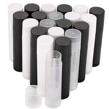 Tubos vacíos de brillo de labios, envases cosméticos vacíos de lápiz labial, frascos de tubo de bálsamo, contenedor de viaje, herramientas de maquillaje, 5ml, 100 Uds.