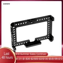 """CAMVATE Monitor Cage Bracket With 1/4"""" 20 Mounting Holes Designed For FeelWorld F6 Plus /Andycine A6 Plus 5.5"""" On Camera Display"""