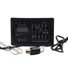 5 Band Acoustic Guitar Preamp EQ Equalizer Classical Acoustic Guitar Amplifier Digital Blend Tuner Piezo Pickup Without Tail Pin acoustic 5 band eq equalizer guitar preamp piezo pickup lcd tuner