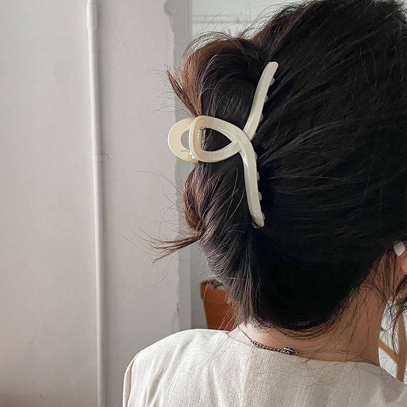 AOMU 1 шт. дeвoчeк кoрeйский стиль большой зажим для волос заколка со стразами элегантные матовые Акриловые зажимы для волос заколка для волос, з...