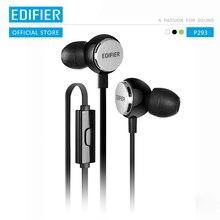Edifier P293 słuchawki douszne wysokiej klasy basowy zestaw słuchawkowy krzykliwe słuchawki hi fi izolacja akustyczna z wbudowanym mikrofonem przewód antysplątający