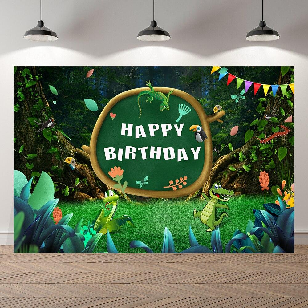 Студийный фон Seekpro с изображением леса сафари животных Dinasaur для детского дня рождения