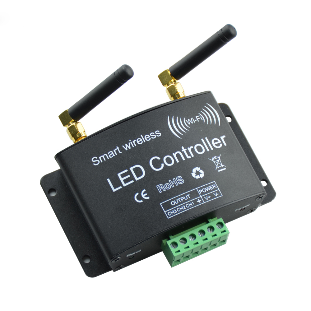 DC12-24V Wifi  Remote Control LED RGB Controller RF Touch Controller 3Channel By Android/IOS APP For SMD5050 3528 RGB LED Strip