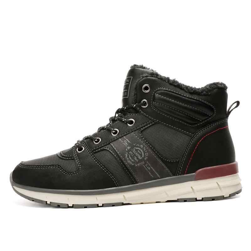 Mannen Winter casual schoenen mannen outdoor schoenen schoenen Mannen warme laarzen Sport stijl met bont en pluche binnenkant Werken Sneeuw laarzen bota