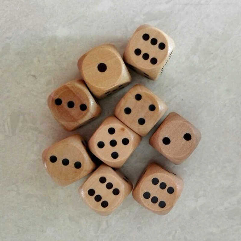 2 個 16 ミリメートル木製サイコロログ色ビーズ木材工芸は再生パーティー家族同僚ゲーム装飾