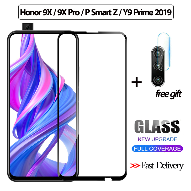 2-in-1 3D Tempered Glass For Huawei Honor 9X Pro P Smart Z Screen Protector Y9 Prime 2019 Camera Glass Honor 9x Protective Glass