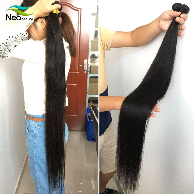 """8 """"-28"""" 30 32 34 36 38 40 pouces 1/3/4 faisceaux de cheveux raides disponibles 10A cheveux raides vierges brésiliens faisceaux d'armure de cheveux"""