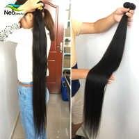 """8 """"-28"""" 30 32 34 36 38 40 pulgadas de 1/3/4 pelo recto mechones disponible 10A del pelo recto del pelo humano brasileño de la Virgen extensiones de pelo ondulado"""