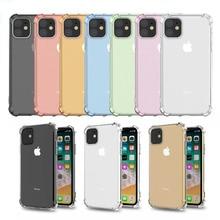 Stoßfest TPU Farbe Abdeckung Für iPhone 12 11 Pro Max X XR XS MAX Transparent Klar Shell Für iPhone 7 8 Plus SE 2020 12 Mini Fall