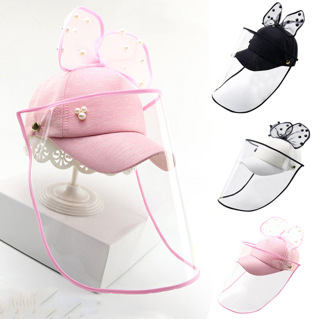 Niños Anti-escupir sombrero protector impermeable a prueba de niños, niños niñas arco máximo sombrero exterior a prueba de viento tapas